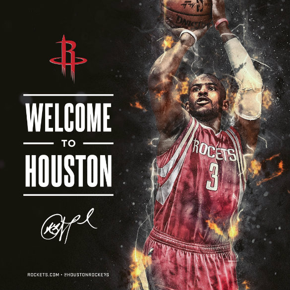 Houston Rockets Record 2018: Houston Rockets Officially Acquire Chris Paul