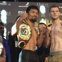 Pacquiao, Horn, Ancajas make weight for Battle of Brisbane