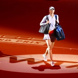 Sharapova makes first US match appearance since drug ban