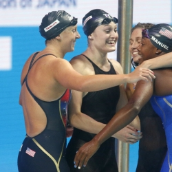 Make it a double: Ledecky begins worlds with a pair of golds