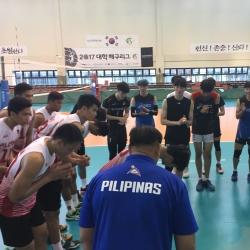 PHI men's volleyball team bows to Korean Universiade squad