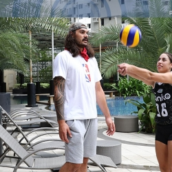 How to start playing volleyball according to Amy Ahomiro