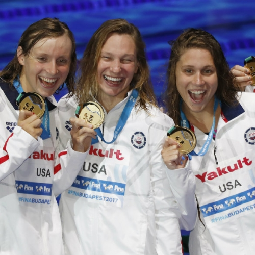 Ledecky back on top, while new generation emerges for US men