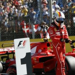 Vettel gets pole position, while Hamilton misses pole record