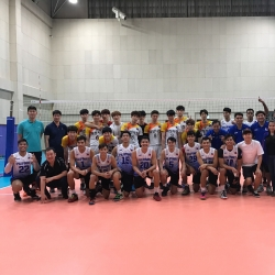PHI men's volleyball team wraps training camp