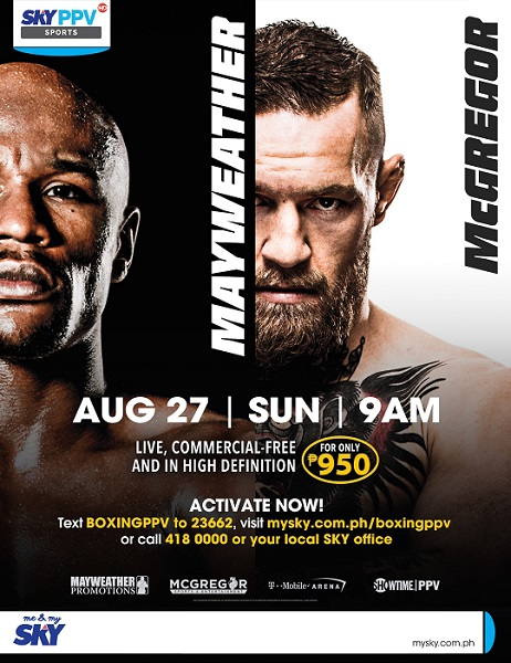 Catch Mayweather vs McGregor  bout on SKY Sports PPV