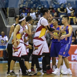 Pogoy involved in another altercation with the Beermen