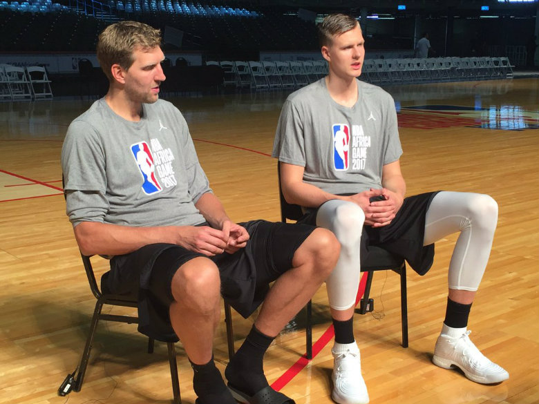 Porzingis, Nowitzki strengthen friendship at NBA Africa