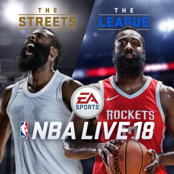 James Harden named NBA Live 18 cover athlete