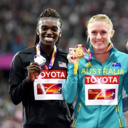 Pearson, Harper-Nelson lead way in 100 hurdles at worlds