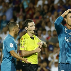 Ronaldo sent off after scoring in Madrid's 3-1 win at Barca