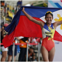 Pinoy triathletes banner Team PHI's successful day