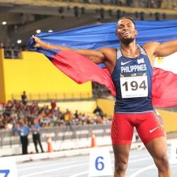 Cray defends 400m. hurdles, falls short in century dash