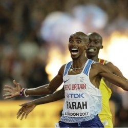 Mo Farah wins thrilling 5,000 at Zurich to end track career