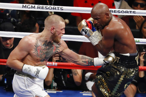McGregor hit Mayweather more times than Pacquiao did