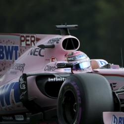 Force India drivers Perez and Ocon clash again at Belgian GP