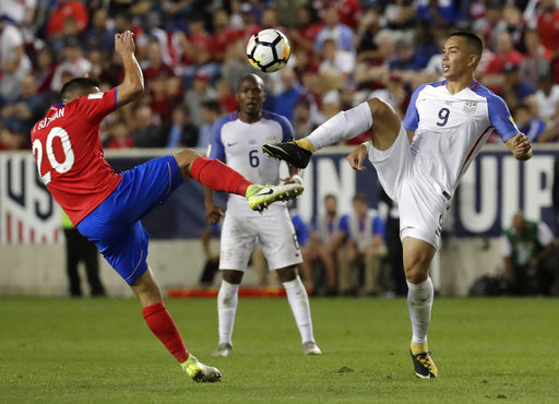 US World Cup hopes in jeopardy after 2-0 loss to Costa Rica
