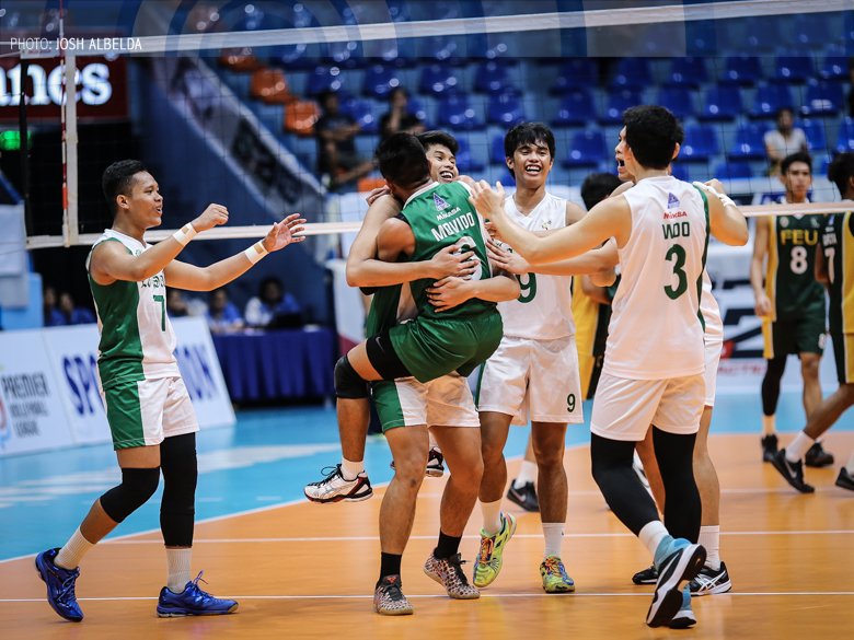 Green Spikers tame Bulldogs to end two-game skid