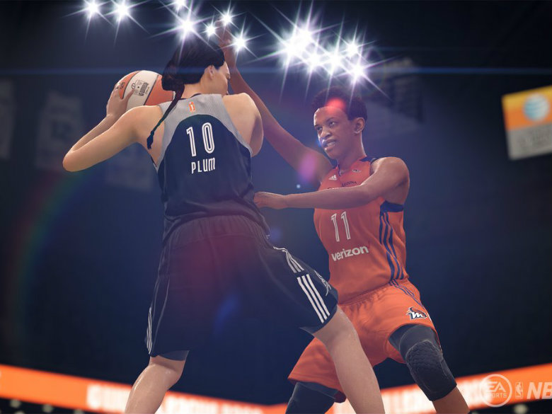 Players test out first WNBA video game