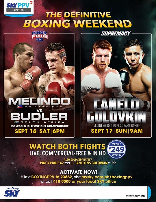 Catch Pinoy Pride 42, Canelo-Golovkin superfight on Sky PPV