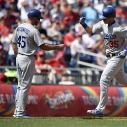Bellinger ties record as Dodgers beat Nationals