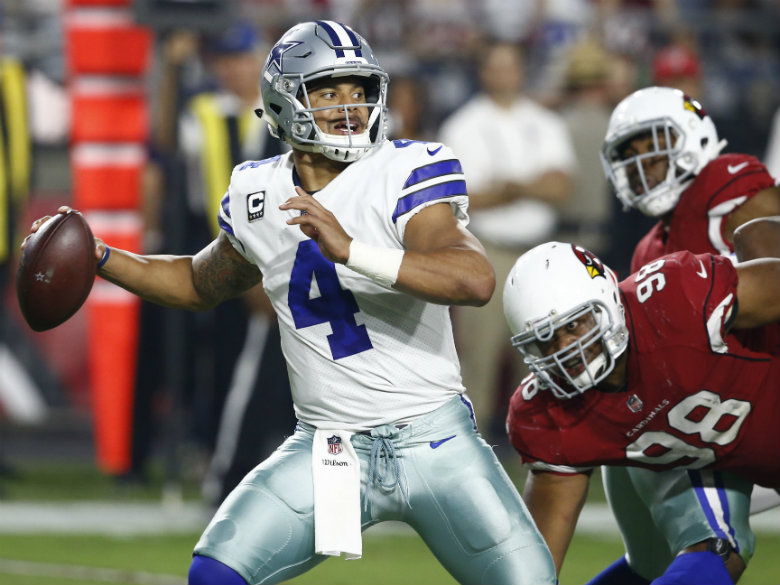 Prescott, Cowboys pull away to beat Cardinals 28-17