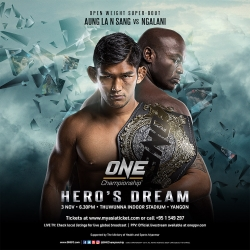 ONE champ Aung La N Sang meets Alain Ngalain in superfight