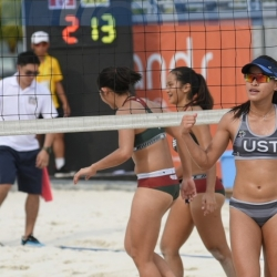 UST, FEU continue rampage in women's beach volleyball