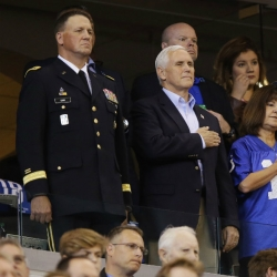 US VP Pence exits NFL game after players kneel during anthem
