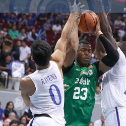 Ateneo's Ravena giving chase to DLSU's Mbala in MVP race