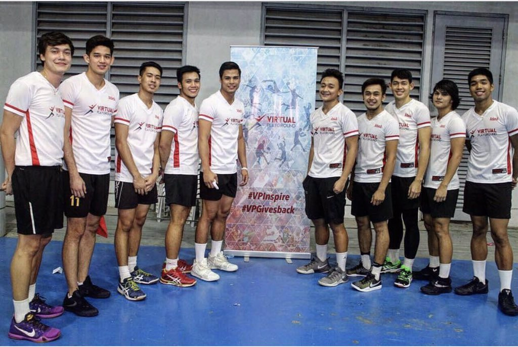 Men's volleyball stars hold benefit exhibition match
