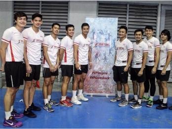 Men's volleyball stars hold benefit exhibition match