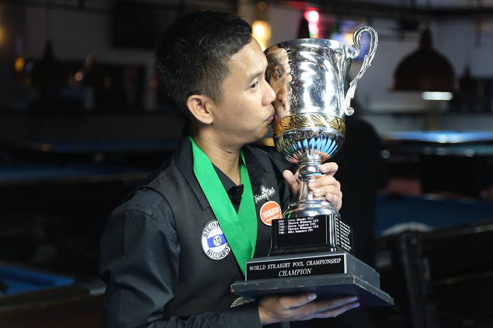 Lee Van Corteza makes history as first Asian 14.1 champion