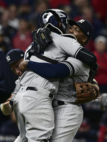 Yanks complete comeback, beat Indians 5-2 in Game 5 of ALDS