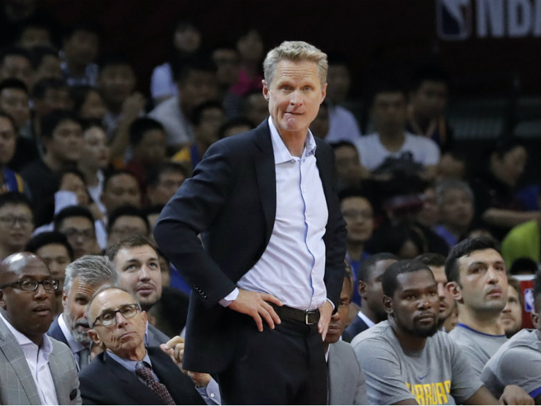 Kerr pushes Warriors to keep joy, chase repeat championship
