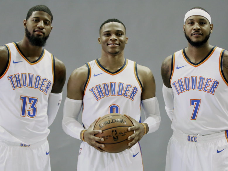 Oklahoma City's Big Three shooting for their 1st NBA title