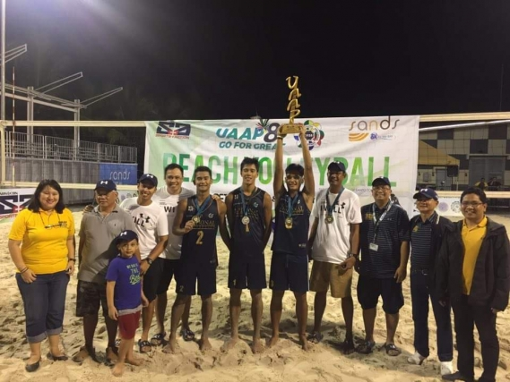 Bulldogs regain beach volleyball title after dethroning UST