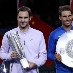 Federer beats Nadal to win Shanghai Masters title