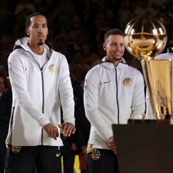 LOOK: Warriors get rings, raise championship banner