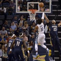Conley, rookie Brooks lead Grizzlies past Pelicans 103-91