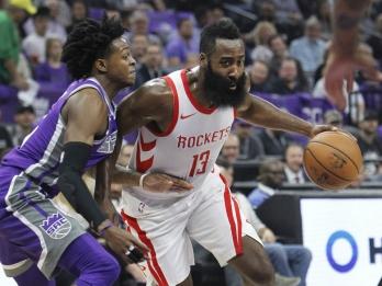 Harden, Houston spoil another opener, win 105-100 at Kings