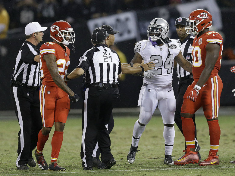Raiders' Marshawn Lynch suspended game for shoving official