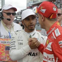Hamilton claims US Grand Prix pole, Vettel No. 2