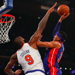 Pistons come from 21 down to beat Knicks