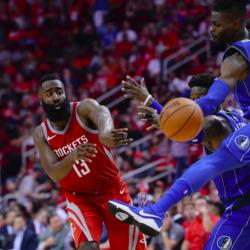 James Harden leads Rockets past Mavericks, 107-91