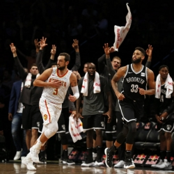 Allen Crabbe scores 20 points, Nets beat Hawks 116-104
