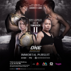 Lee-Yamaguchi II, Askren-Aoki banners stacked ONE card in SG