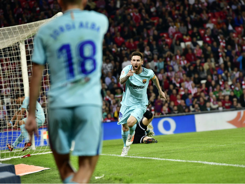 Messi nets 12th goal and Barcelona strengthens La Liga lead