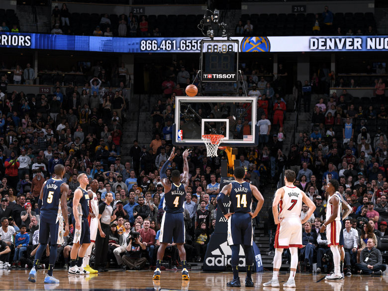 Millsap lifts Nuggets over Heat 95-94