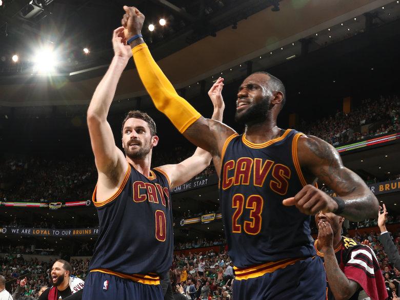 Love, LeBron push Cavaliers past Bucks 124-119